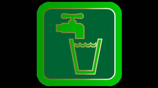 Symbol für Wasserhahn und Wasserglas
