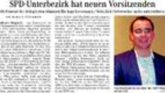 Syker Kurier Vom 20-04-2015 - Spd-unterbezirk Hat Neuen Vorsitzenden