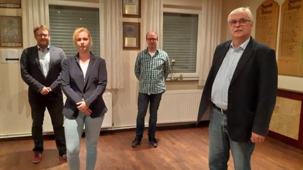 v.l.n.r. Striek, Voncken, Langhorst, Witte